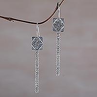 Sterling silver dangle earrings,