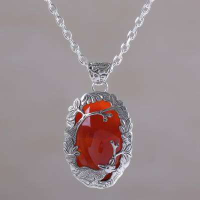 market orange stone etsy crystal healing pendant il jewelry carnelian necklace
