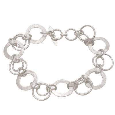 Handmade Sterling Silver Link Bracelet from Indonesia