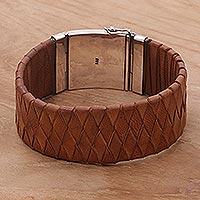 Leather wristband,
