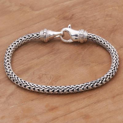 Men S Sterling Silver Chain Bracelet Confident Man