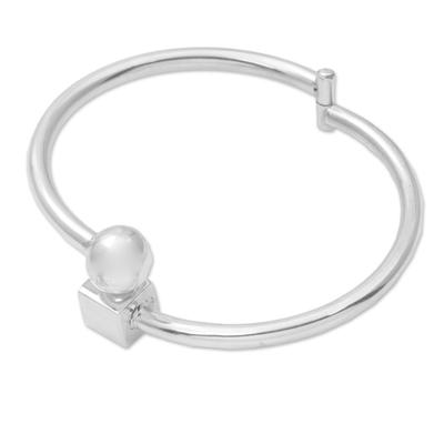 Sterling silver bangle bracelet, 'Simple Bali' - Sterling Silver Simple Bangle Bracelet by Balinese Artisans
