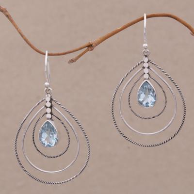Novica Amethyst dangle earrings, Purple Constellation