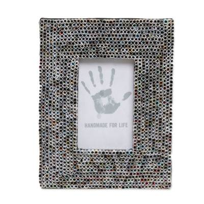 Recycled Paper Multicolored Photo Frame from Bali 3x5