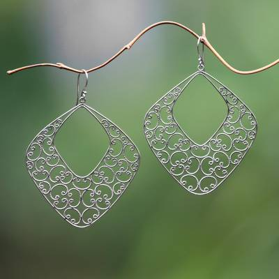 how to make spiral rope earrings