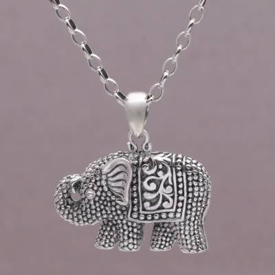 925 sterling silver elephant pendant necklace from bali royalty sterling silver pendant necklace royalty memories 925 sterling silver elephant pendant necklace mozeypictures Image collections