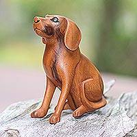 Wood sculpture, Loyal Dog