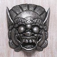 Wood mask, 'Barong Celeng' - Handmade Albesian Wood Barong Bangkal Mask from Bali
