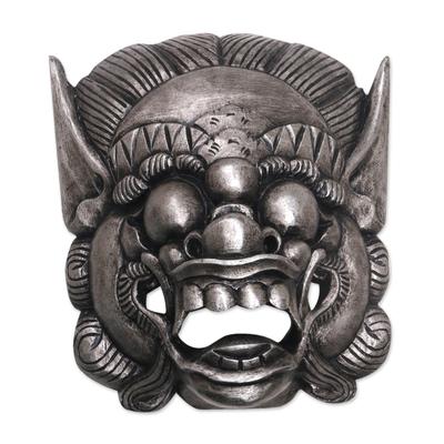 Handmade Albesian Wood Barong Bangkal Mask from Bali