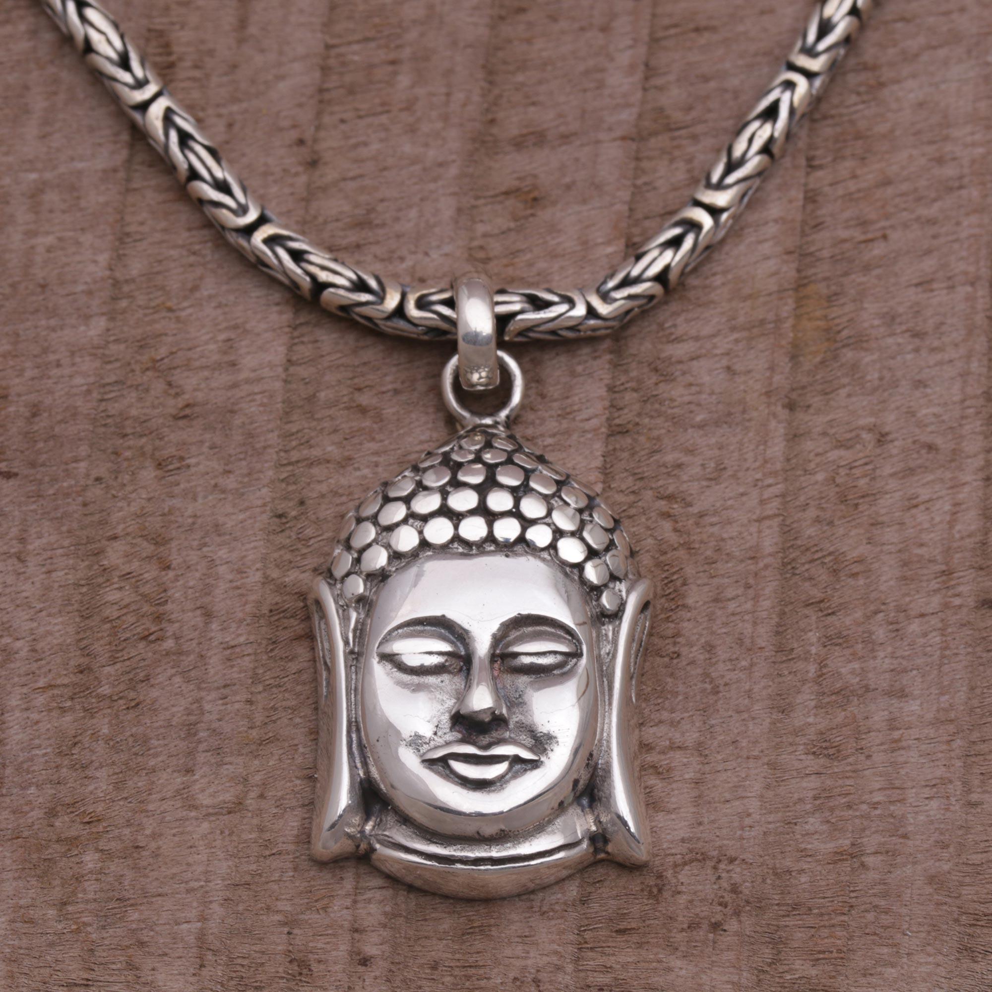 Gt hurleyburley man gt sterling silver men s snake chain bracelet - Sterling Silver Pendant Necklace Charm Of Buddha Sterling Silver Buddha Pendant Necklace