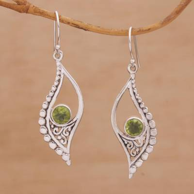 f1e436123 UNICEF Market | Peridot and Sterling Silver Dangle Earrings from Indonesia  - Jungle Dew