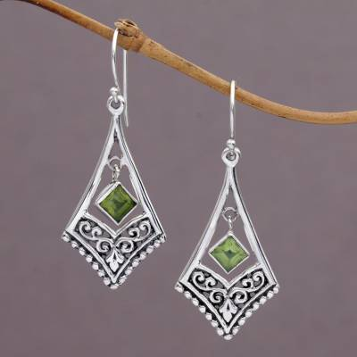 Peridot dangle earrings, Gianyar Dangle
