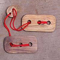 Featured review for Teakwood puzzle, Red Omed-Omedan