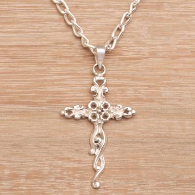 Women S Sterling Silver Handmade Cross Necklace From India