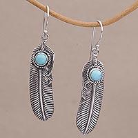 Turquoise dangle earrings,