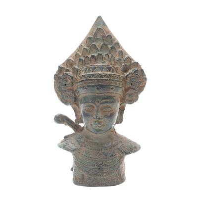 Antiqued Bronze Sculpture of a Traditional Dancer from Bali
