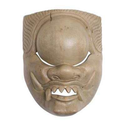 Handcrafted Hibiscus Wood Cultural Mask from Bali