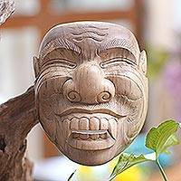 Wood mask, 'Sidakarya' - Handcrafted Hibiscus Wood Cultural Mask from Bali