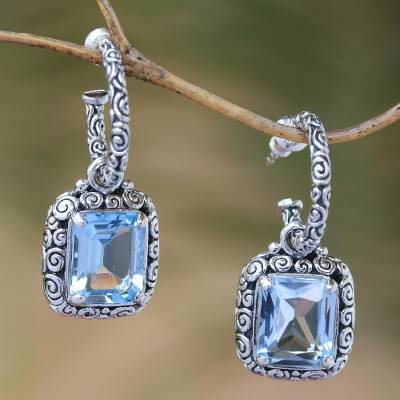 Novica Sterling silver chandelier earrings, Memories