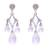 Quartz chandelier earrings, 'Crystal Drops' - Clear Quartz and 925 Silver Chandelier Earrings from Bali thumbail