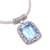 Blue topaz pendant necklace, 'Buddha Curl Memories' - Blue Topaz and Sterling Silver Pendant Necklace from Bali (image 2c) thumbail