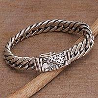 Featured review for Sterling silver chain bracelet, Shining Combination