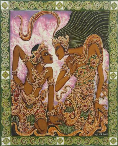 Batik Painting Dua Sejoli