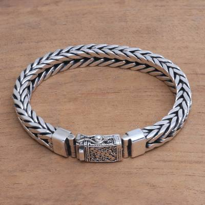 Men S Sterling Silver Chain Bracelet From Bali Magic