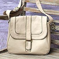 Novica Leather sling, Stylish Companion in Onyx