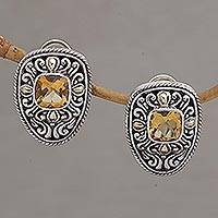 Featured review for Gold accented citrine drop earrings, Luxurious Swirls