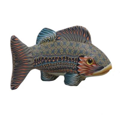 Handcrafted Polymer Clay Fish Sculpture (3.3 Inch) from Bali