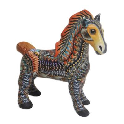 Handcrafted Polymer Clay Horse Sculpture (3.3 Inch)