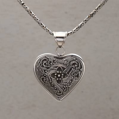 print necklace heart home shaped en
