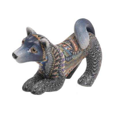 Handcrafted Colorful Polymer Clay Dog Sculpture from Bali