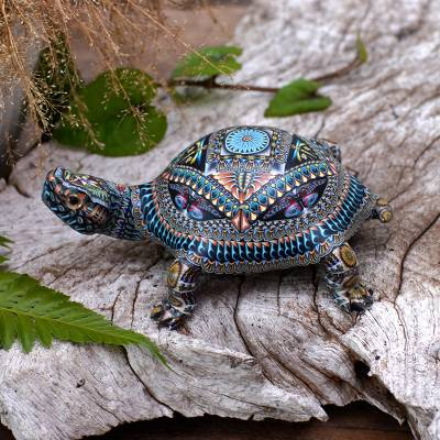 Polymer clay sculpture, Decorative Tortoise (4.5 inch)