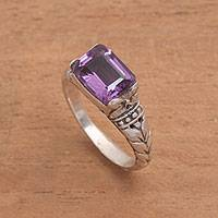 Amethyst single stone ring, Padang Galak Beauty