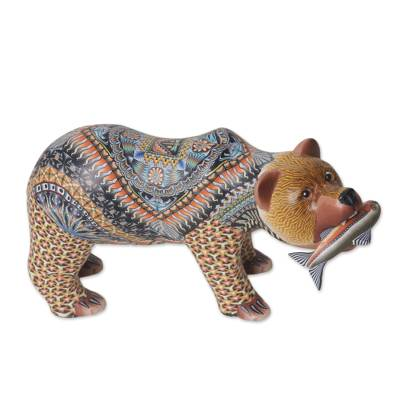 Colorful Polymer Clay Bear Sculpture (6 Inch) from Bali