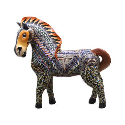Handcrafted Polymer Clay Horse Sculpture (5.5 Inch)