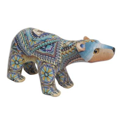 Colorful Polymer Clay Baby Polar Bear Sculpture from Bali