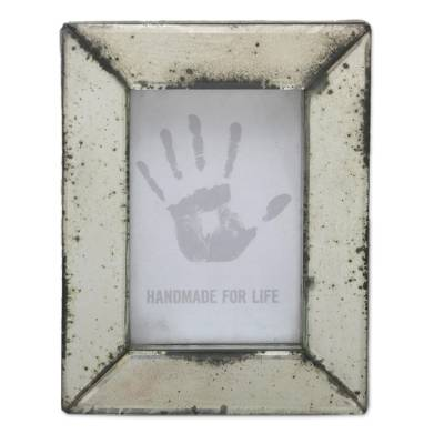 Rustic Mirrored Glass Photo Frame (4x6) from Bali