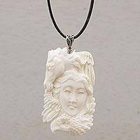Featured review for Bone pendant necklace, Wild Lady