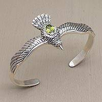 Featured review for Peridot cuff bracelet, Spirit Hawk