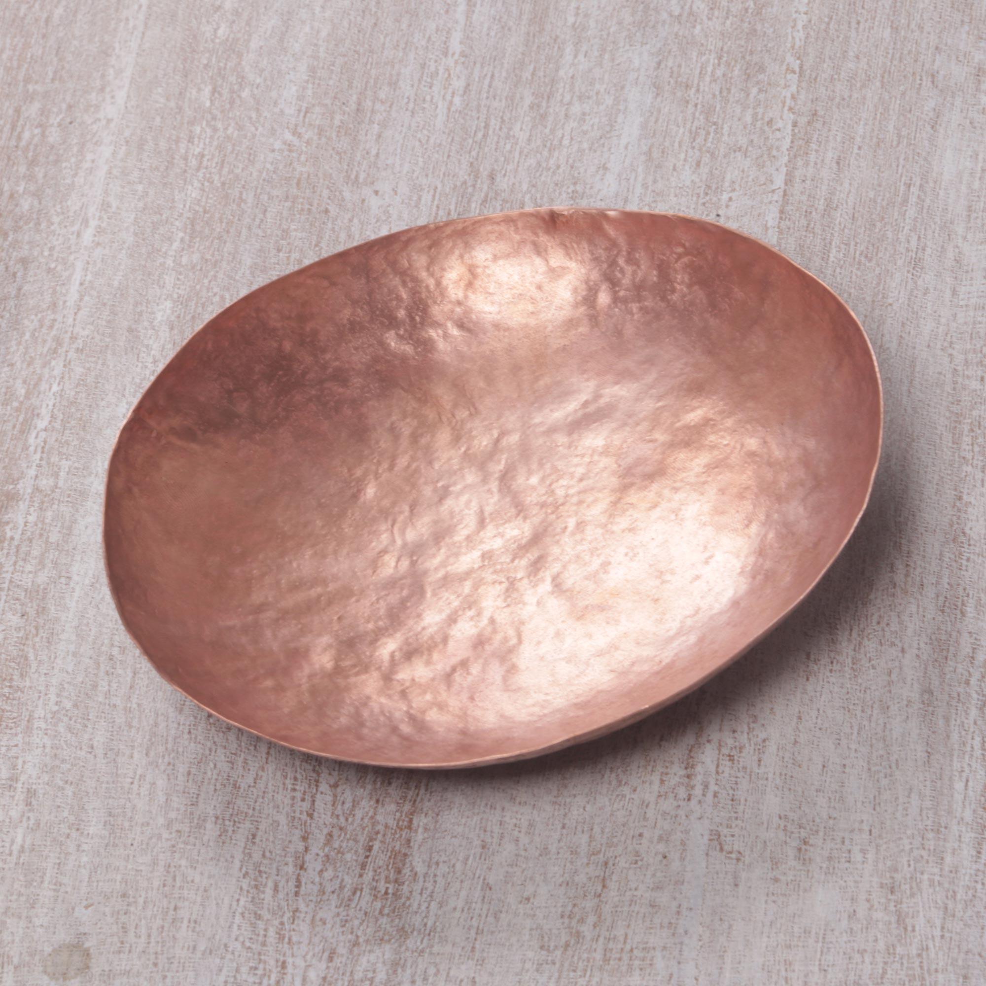 Butterum Aura 5.5-Inch Artisan Handcrafted Copper Centerpiece Catchall