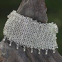 Sterling silver link bracelet, 'Links of Solidarity' - 925 Sterling Silver Chain Link Bracelet from Indonesia