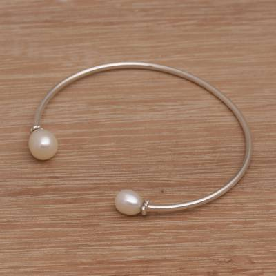 Freshwater Pearl and Sterling Silver Bracelet Moonlight Love