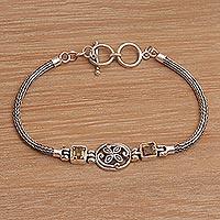 Citrine pendant bracelet, 'Celuk Petals'