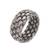 Sterling silver band ring, 'Well Woven' - Unisex Style Woven Sterling Silver Ring (image 2e) thumbail