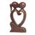 Wood statuette, 'Eternal Bond' - Hand Carved Romantic Suar Wood Statuette from Bali (image 2a) thumbail