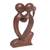 Wood statuette, 'Eternal Bond' - Hand Carved Romantic Suar Wood Statuette from Bali (image 2b) thumbail