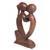 Wood statuette, 'Eternal Bond' - Hand Carved Romantic Suar Wood Statuette from Bali (image 2c) thumbail